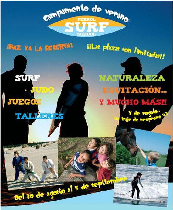 Campamento de Verano Ferrol Surf School en A Coruña