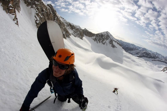Luttrell Jarrett, snowboard a 1.300 metros