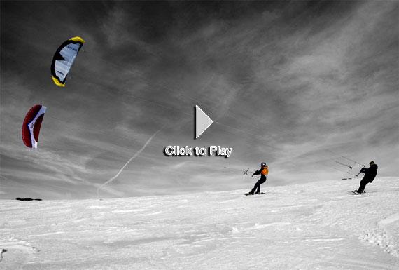Snowkite, surge un nuevo deporte de nieve.