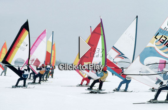 Iceboarding, una variante del windsurf sobre hielo
