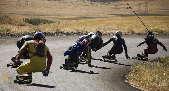 Skate Downhill en el cerro La Molina