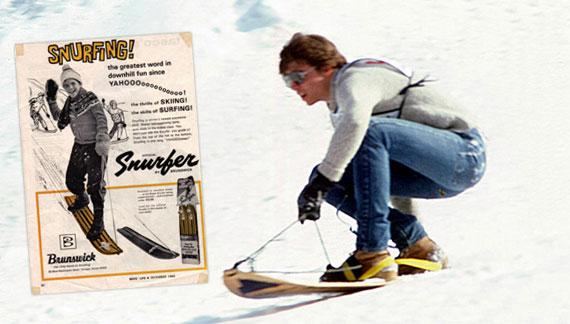 Snurfer, los antepasados del snowboard